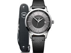 Relógio Victorinox Alliance Preto com Canivete Exército Suíço Pioneer - 0