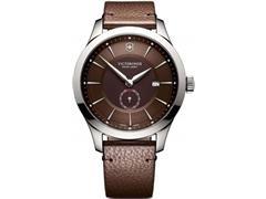 Relógio Victorinox Alliance Prateado com Pulseira em Couro Marrom