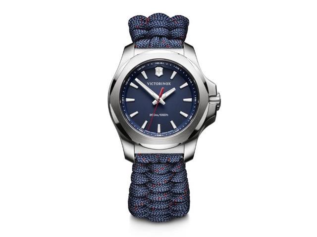 Relógio Victorinox I.N.O.X. V Pratedo Pulseira Azul