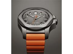 Relógio Victorinox I.N.O.X. Titanium Cinza Pulseira Laranja - 5