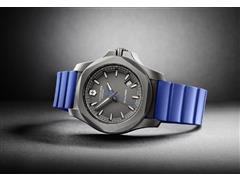 Relógio Victorinox I.N.O.X. Titanium Cinza Pulseira Azul - 4
