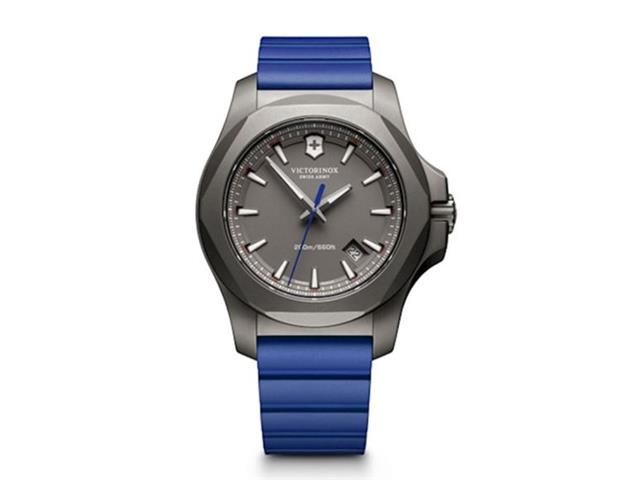 Relógio Victorinox I.N.O.X. Titanium Cinza Pulseira Azul