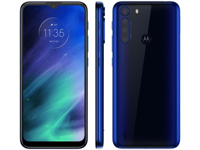 "Smartphone Motorola One Fusion 4G 64GB 6.5"" QuadCâm 48+8+5+2MP Azul"