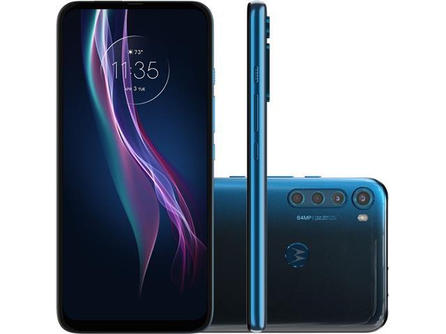 "Smartphone Motorola One Fusion+ 4G 128GB 6.5"" QuadCâm 64+8+5+2MP Azul"