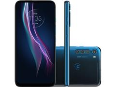 "Smartphone Motorola One Fusion+ 4G 128GB 6.5"" QuadCâm 64+8+5+2MP Azul"
