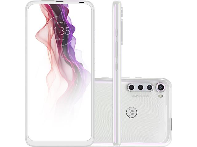 "Smartphone Motorola One Fusion+ 4G 128GB 6.5""QuadCâm 64+8+5+2MP Branco"