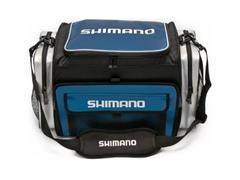 Bolsa de Pesca Shimano Borona Preto e Azul Tam M - 1