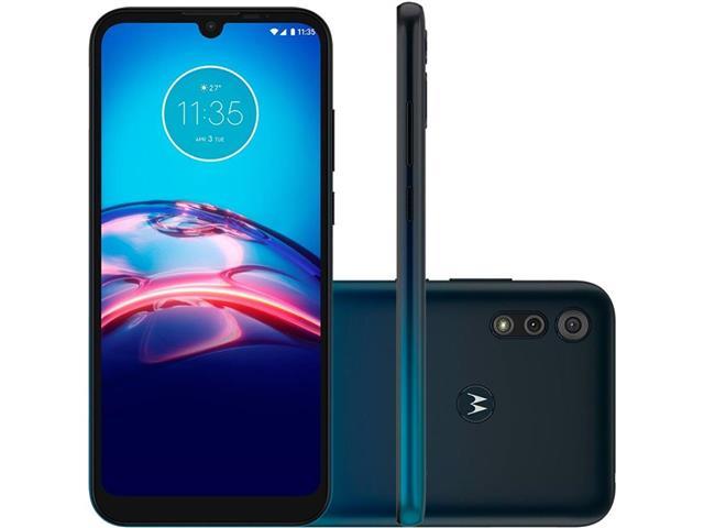 """Smartphone Motorola Moto E6S 64GB Duos Tela 6.1"""" 4G Câm 13+2MP Navy"""