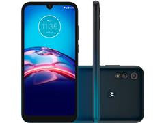 """Smartphone Motorola Moto E6S 64GB Duos Tela 6.1"""" 4G Câm 13+2MP Navy - 0"""