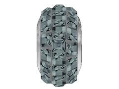 Becharmed Pavé Cinza decorado com cristais da Swarovski® quadrados