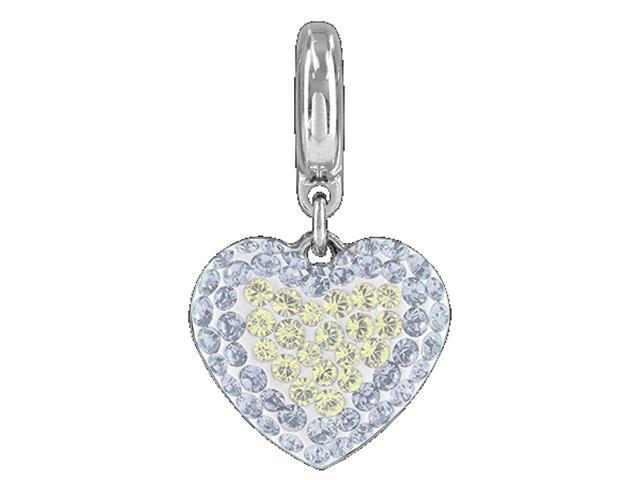 Becharmed Pingente Pavé Coração Cinza decorado com cristais Swarovski®