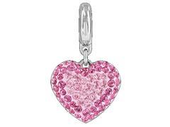 Becharmed Pingente Pavé Coração Rosa decorado com cristais Swarovski®