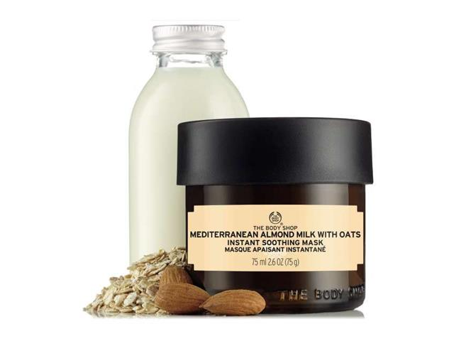 Máscara The Body Shop Leite de Amêndoas do Mediterrâneo com Aveia 75ML