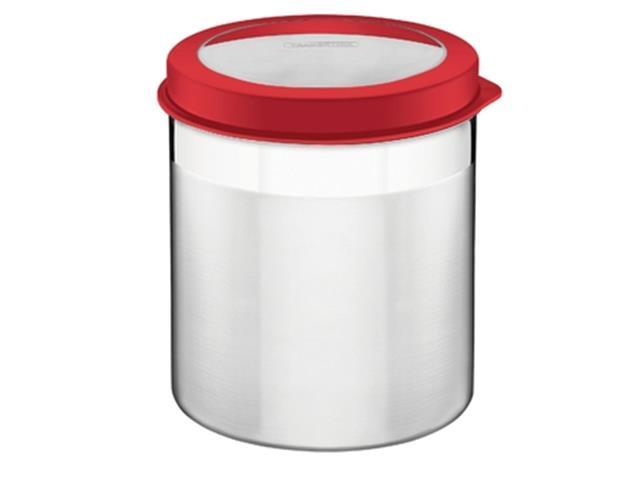 Pote para Armazenar cTampa Plástica Tramontina Vermelho Ø 16CM