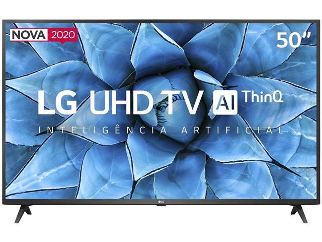 "Smart TV LED 50"" LG UHD 4K ThinQ AI TV HDR webOS 5.0 Wi-Fi 3HDMI 2USB"