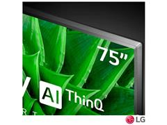 """Smart TV LED 75"""" LG UHD 4K ThinQ AI TV HDR Ativo webOS 5.0 4HDMI 2USB - 5"""