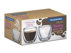 Conjunto de Xícaras para Café em Vidro Tramontina 2 Peças - 1