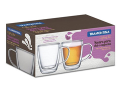 Conjunto de Xícaras para Chá em Vidro Tramontina 2 Peças - 1