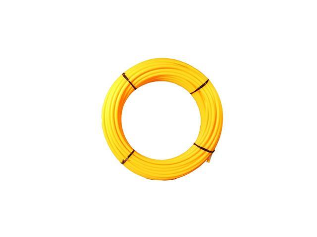 Isolador Tubular Pead Safrashock Amarelo 7/16 Rolo 50 Metros