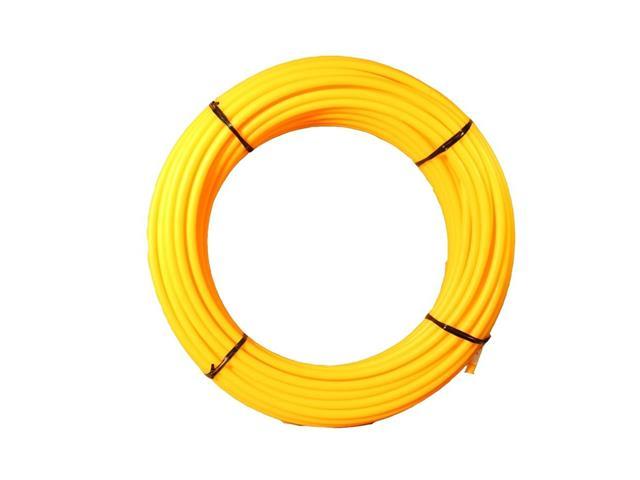Isolador Tubular Pead Safrashock Amarelo 9/16 Rolo 50 Metros