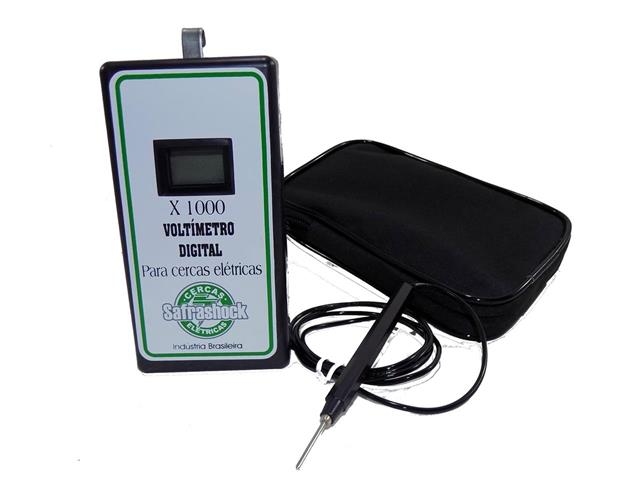Voltímetro Digital Safrashock + Bolsa para Transportes