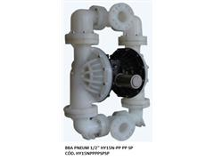 "Bomba de Diafragma Pneumática Vallair Airfluid 1/2"" HY15N-PP PP SP"
