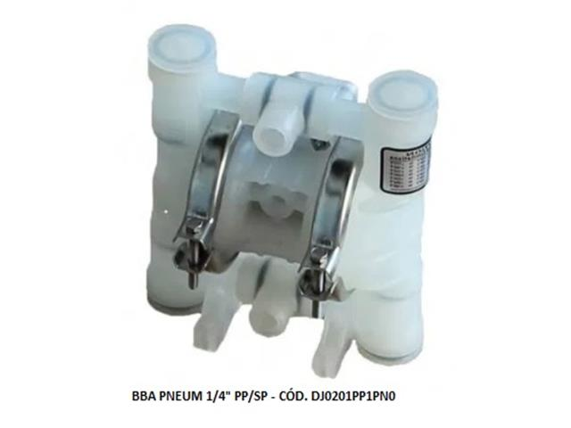 """Bomba de Diafragma Pneumática Vallair Airfluid 1/4"""" PP/SP"""