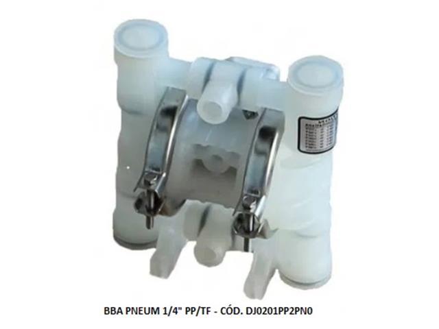 """Bomba de Diafragma Pneumática Vallair Airfluid 1/4"""" PP/TF"""