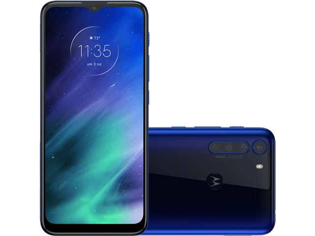 "Smartphone Motorola One Fusion 4G 128GB 6.5"" QuadCâm 48+8+5+2MP Azul"