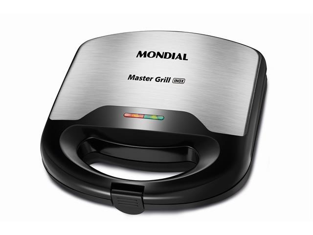 Sanduicheira Grill 2 em 1 Mondial Master S-20 Inox