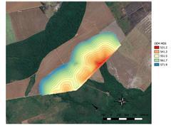 Curvas de Nível com DRONE E RTK - Agroservice - 1