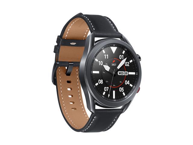 Smartwatch Samsung Galaxy Watch 3 4G LTE 45mm Pulseira Couro Aço Preto