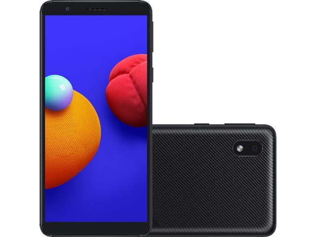 "Smartphone Samsung Galaxy A01 Core 32GB Duos Tela 5.3"" Câm 8MP Preto"