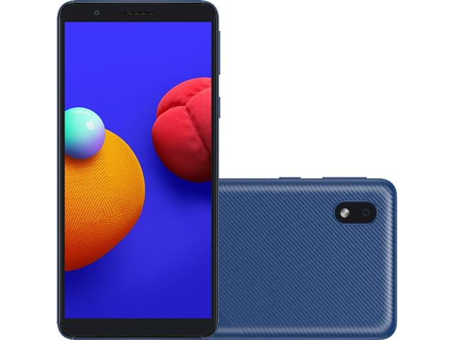"Smartphone Samsung Galaxy A01 Core 32GB Duos Tela 5.3"" Câm 8MP Azul"