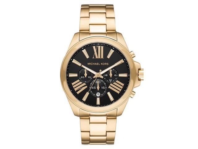 Relógio Michael Kors Big Cases Feminino MK8766/1DN Dourado fundo Preto
