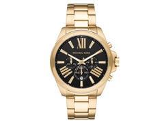 Relógio Michael Kors Big Cases Feminino MK8766/1DN Dourado fundo Preto - 0