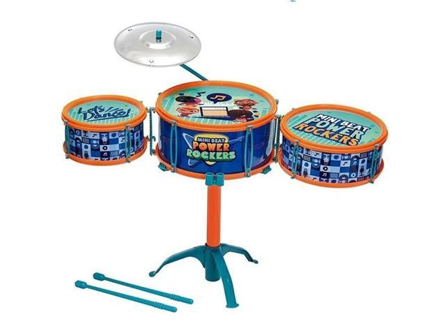 Bateria Infantil Fun Mini Beats Power Rockers Azul