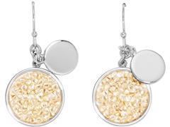 Brincos DSE Crystal Rocks GoldenShadow decorado com Cristal Swarovski®