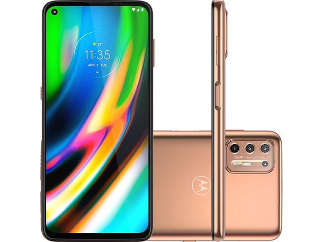 "Smartphone Motorola Moto G9 Plus 128GB Duos 6.8""4G Câm 64+8+2+2MP Rosê"