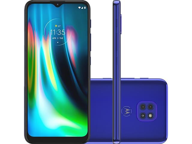 "Smartphone Motorola Moto G9 Play 64GB Duos 6.5"" 4G Câm 48+2+2MP Azul"
