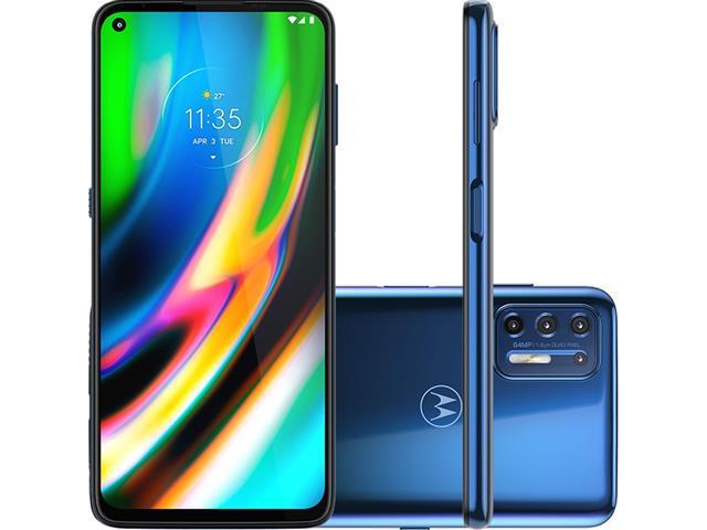 "Smartphone Motorola Moto G9 Plus 128GB Duos 6.8""4G Câm 64+8+2+2MP Azul"