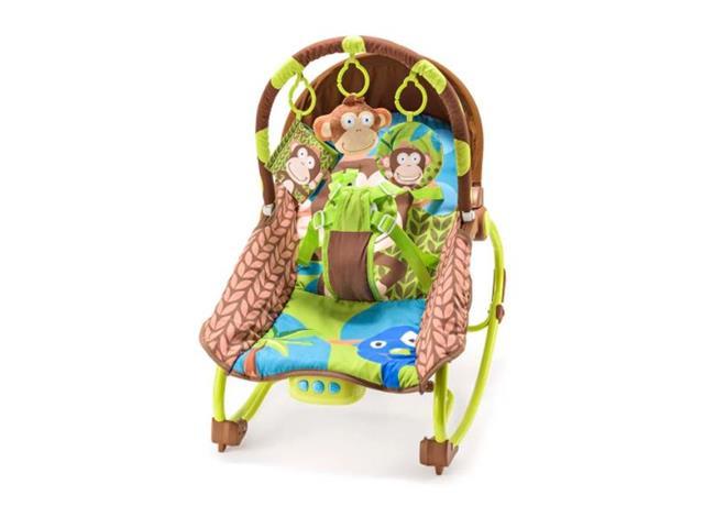 Cadeira de Balanço Multikids Baby BB365 para Bebês 0-20 Kg Macaco