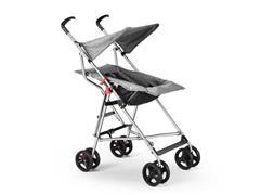 Carrinho de Bebê Guarda-Chuva Pocket Multikids Baby BB500 Cinza - 1