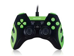 Controle Gamer PS3/PC Multilaser JS091 Preto/Verde