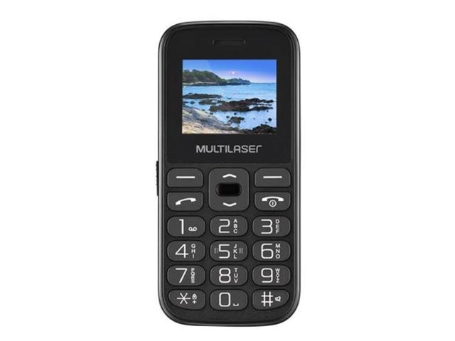 "Celular Multilaser P9120 Vita Dual Chip 2G USB Bluetooth Preto 1.8"""