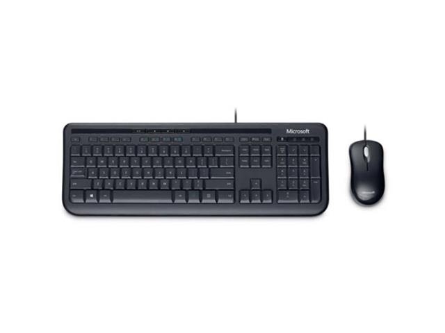 Teclado e Mouse Microsoft com Fio Desktop 600 USB Preto