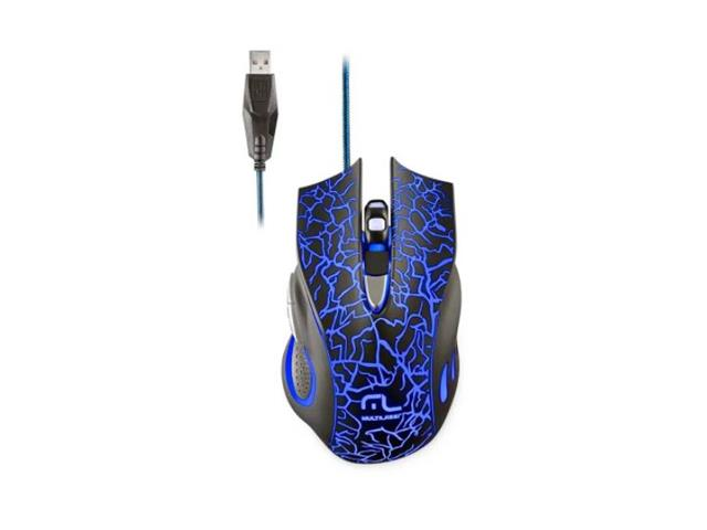 Mouse Gamer Multilaser MO250 3200DPI 6 Botões com LED