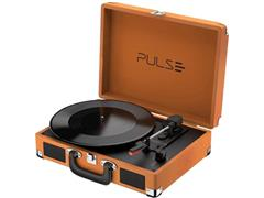Vitrola Toca Discos Pulse Berry Suitcase Turntable Bluetooth Retrô
