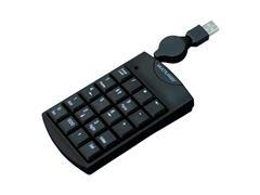 Teclado Numérico Multilaser TC230 com Cabo Retrátil USB Preto - 1