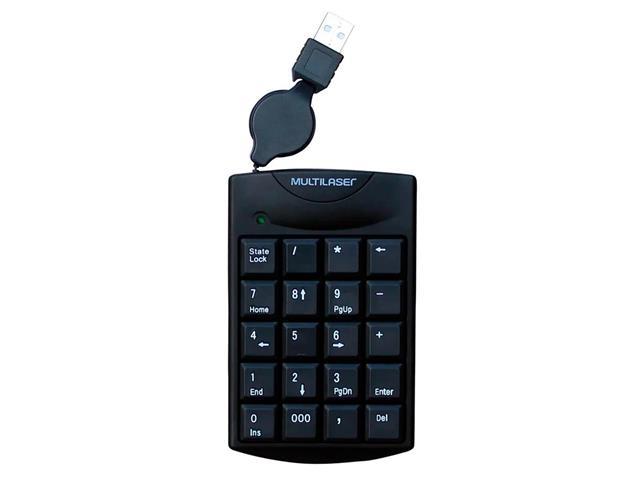 Teclado Numérico Multilaser TC230 com Cabo Retrátil USB Preto